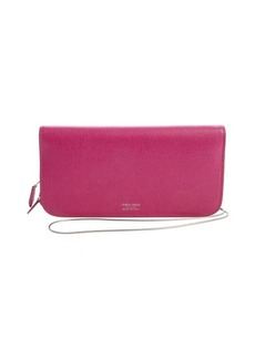 Armani geranium pink leather crossbody convertible wallet
