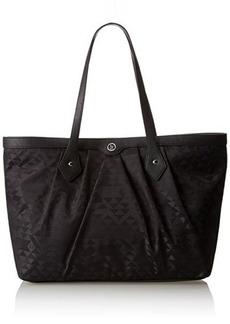 Armani Jeans Nylon Jacquard Shopper Shoulder Bag