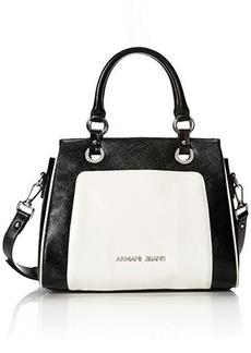 Armani Jeans Saffiano Shopper Cross Body Bag