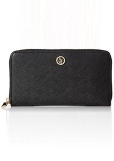 Armani Jeans Saffiano Zip Wallet