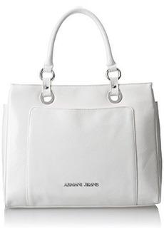 Armani Jeans Shiny Saffiano Shopper Cross Body Bag