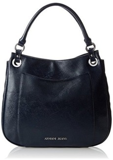 Armani Jeans Shiny Saffiano Shoulder Bag