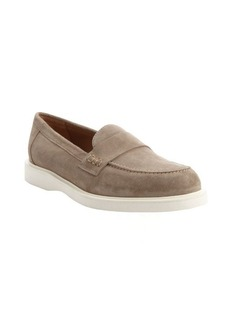 Armani mud suede monk strap moc toe loafers