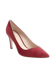 Armani ruby suede pointed toe pumps