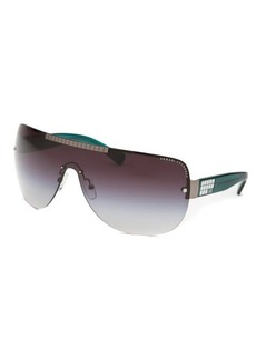 Armani Exchange Women's AX 2005 Shield Silver-Tone Sunglasses