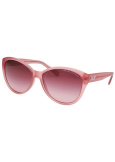 Armani Exchange Women's Butterfly Pink Transparent Sunglasses
