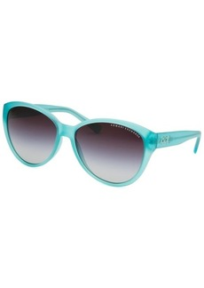 Armani Exchange Women's Butterfly Transparent Turquoise Sunglasses