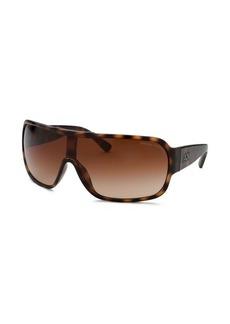 Armani Exchange Women's Shield Havana Sunglasses