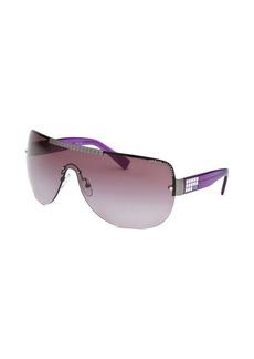 Armani Exchange Women's Shield Purple Sunglasses