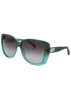 Armani Exchange Women's Square Green Gradient Sunglasses