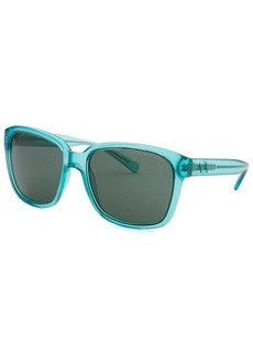 Armani Exchange Women's Square Transparent Bright Blue Sunglasses