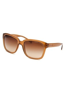 Armani Exchange Women's Square Transparent Brown Sunglasses