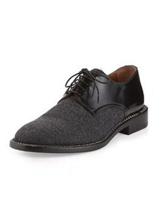 Flannel Lace-Up Oxford, Dark Gray   Flannel Lace-Up Oxford, Dark Gray