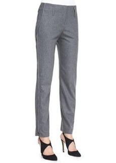 Flannel Side Zip-Detail Pants   Flannel Side Zip-Detail Pants