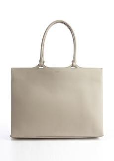 Giorgio Armani beige leather slim profile tote bag