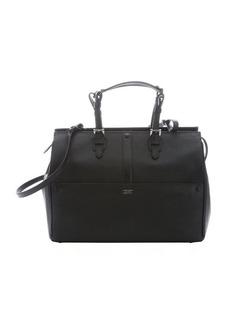 Giorgio Armani black calfskin convertible tote bag