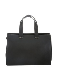 Giorgio Armani black calfskin multi-compartment tote