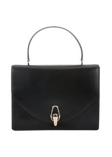Giorgio Armani black calfskin turnlock handbag