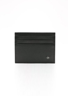 Giorgio Armani black embossed leather card holder
