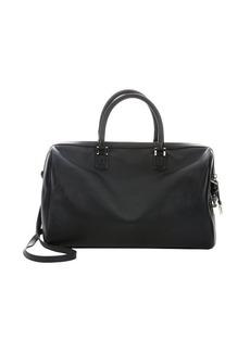 Giorgio Armani black leather 'Agnello' top handle large bag