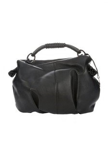 Giorgio Armani black leather knotted handle hobo