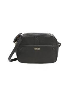 Giorgio Armani black leather mini camera case shoulder bag