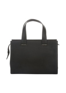 Giorgio Armani black leather multi-pocket small top handle bag