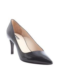 Giorgio Armani black leather pointed toe pumps