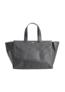 Giorgio Armani black leather top handle tote