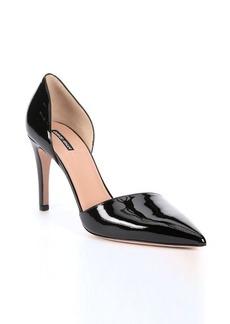 Giorgio Armani black patent leather d'orsay pumps