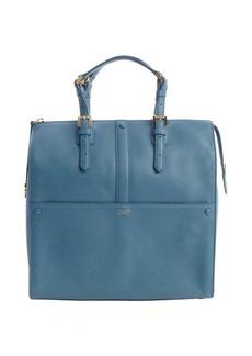 Giorgio Armani blue leather 'Bauletto Medio' top handle bag