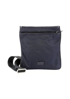 Giorgio Armani blue nylon crossbody flat bag