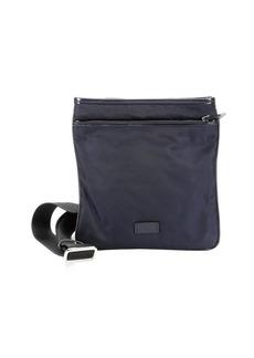 Giorgio Armani blue nylon crossbody flat bag