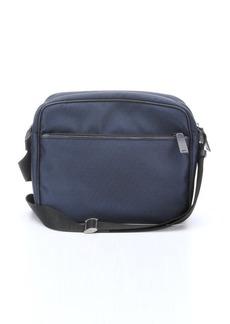 Giorgio Armani blue woven logo jacquard shoulder bag