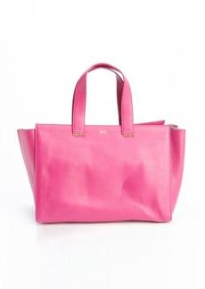 Giorgio Armani bubblegum pink leather logo stamp top handle tote