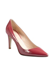Giorgio Armani framboise patent leather pointed toe pumps