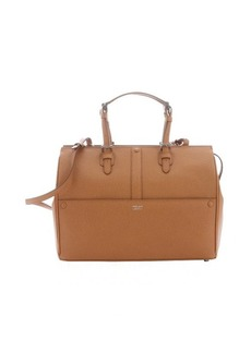 Giorgio Armani light brown calfskin convertible tote bag