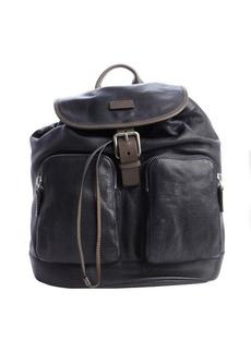 Giorgio Armani navy blue leather pocket detail backpack
