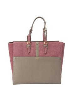 Giorgio Armani pink and dove leather large tote bag