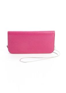 Giorgio Armani pink leather convertible crossbody wallet