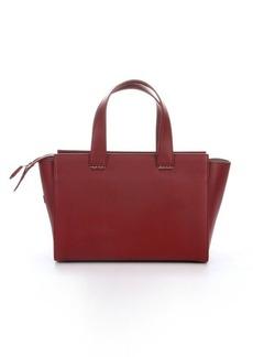 Giorgio Armani red leather multi-pocket small top handle bag