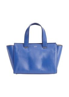 Giorgio Armani royal blue leather logo stamp top hand bag