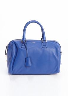 Giorgio Armani royal blue leather top handle bag