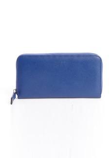 Giorgio Armani royal blue zip around continental wallet
