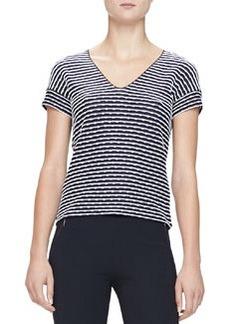 Texture-Striped Jersey Tee   Texture-Striped Jersey Tee