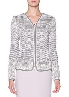 Textured Knit-Jacquard Jacket   Textured Knit-Jacquard Jacket