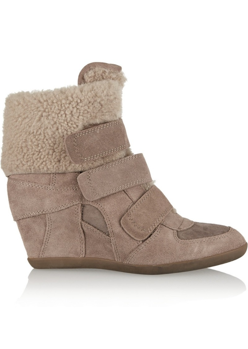 ash ash brizz suede wedge sneakers shoes shop it to me