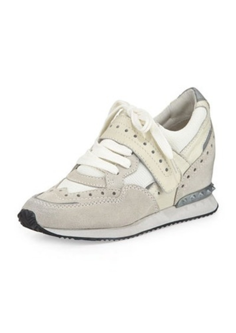 ash ash detox ter spiked leather wedge sneaker shoes