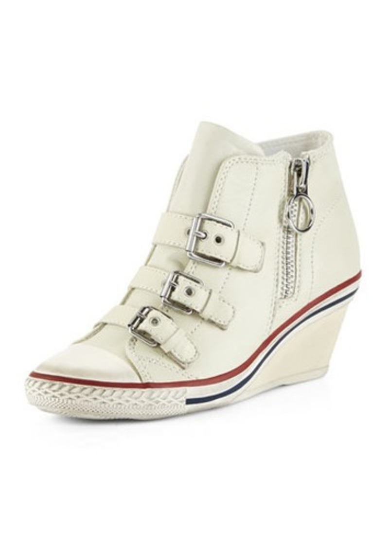 ash ash gin bis buckled leather wedge sneaker shoes