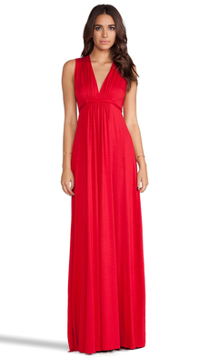 Rachel Pally Long Sleeveless Caftan in Red